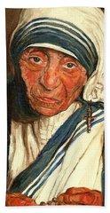 Mother Teresa  Hand Towel by Carole Spandau