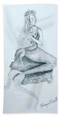 Motherhood Mermaid Hand Towel
