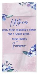 Mothers And Their Children Hand Towel