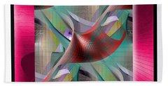 Hand Towel featuring the digital art Motif #2 by Iris Gelbart