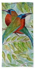 Motmots Hand Towel by Patricia Beebe
