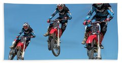 Motocross Riders Hand Towel