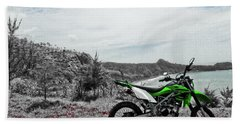 Motocross Hand Towel by Wahyu Nugroho