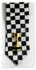 Motor Sport Racing Tie And Trophy Bath Towel