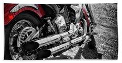 Motorbike From Yamaha Bath Towel by Stephan Grixti