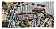 Motorcycle - 1913 Harley Davidson 9a Bath Towel