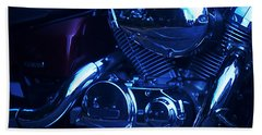 Motorcycle Honda File Bath Towel by Suzanne Powers