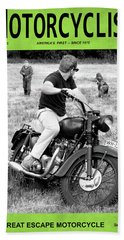 Motorcycle Magazine Great Escape Motorcycle Hand Towel by Mark Rogan