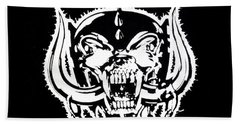 Motorhead Bath Towel by Gina Dsgn