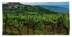 Motovun And Vineyards - Istrian Hill Town, Croatia Hand Towel