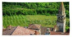 Motovun Istrian Hill Town - A View From The Ramparts, Istria, Croatia Bath Towel
