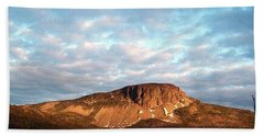 Mottled Sky Of Late Spring Bath Towel by Barbara Griffin