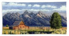 Moulton Barn At The Grand Tetons Hand Towel
