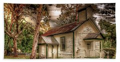 Moultrie Church At Dusk Hand Towel