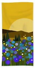 Mounntain Meadow Sunrise - Bluebells Hand Towel
