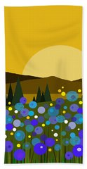 Mounntain Meadow Sunrise - Bluebells Bath Towel