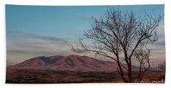 Mount Ara At Sunset With Dead Tree In Front, Armenia Bath Towel by Gurgen Bakhshetsyan