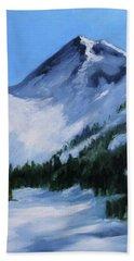 Bath Towel featuring the painting Mount Baker Glacier by Nancy Merkle