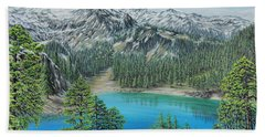 Bath Towel featuring the painting Mount Baker Wilderness by Jane Girardot