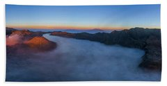 Hand Towel featuring the photograph Mount Bromo Scenic View by Pradeep Raja Prints