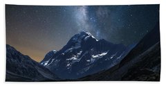 Mount Cook At Night Bath Towel