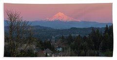 Mount Hood Over Happy Valley Oregon Hand Towel