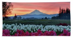 Mount Hood Sunrise Bath Towel