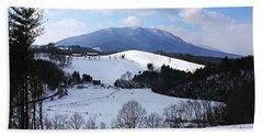 Mount Jefferson Winter Bath Towel by Dale R Carlson