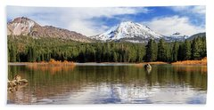 Bath Towel featuring the photograph Mount Lassen Autumn Panorama by James Eddy
