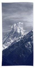 Mount Machapuchare, The Himalayas, Nepal Bath Towel