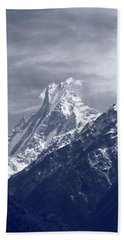Mount Machapuchare, The Himalayas, Nepal Bath Towel