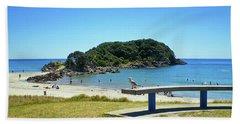 Mount Maunganui Beach 4 - Tauranga New Zealand Hand Towel