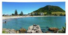 Mount Maunganui Beach 8 - Tauranga New Zealand Hand Towel