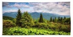Mount Mitchell Asheville Nc Blue Ridge Parkway Mountains Landscape Hand Towel