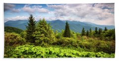 Mount Mitchell Asheville Nc Blue Ridge Parkway Mountains Landscape Hand Towel