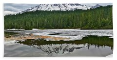 Mount Rainier From Reflection Lakes Hand Towel