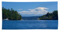 Mount Rainier Lenticular Bath Towel