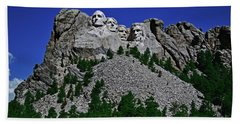Hand Towel featuring the photograph Mount Rushmore 001 by George Bostian