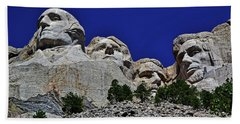 Hand Towel featuring the photograph Mount Rushmore 007 by George Bostian