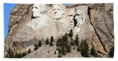 Mount Rushmore I Bath Towel