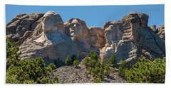 Hand Towel featuring the photograph Mount Rushmore South Dakota by Brenda Jacobs