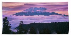 Mount Saint Helens Sunset Bath Towel