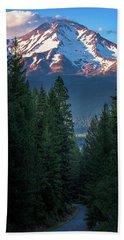 Mount Shasta - A Roadside View Bath Towel