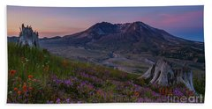 Mount St Helens Spring Colors Hand Towel