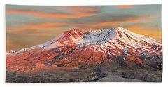 Mount St Helens Sunset Washington State Hand Towel
