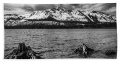 Mount Tallac Black And White Bath Towel