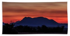 Mount Trio Sunset Hand Towel