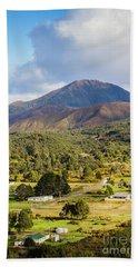 Mount Zeehan Valley Town. West Tasmania Australia Hand Towel