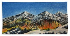 Hand Towel featuring the painting Mountain-5 by Tamal Sen Sharma