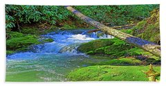 Mountain Appalachian Stream Bath Towel